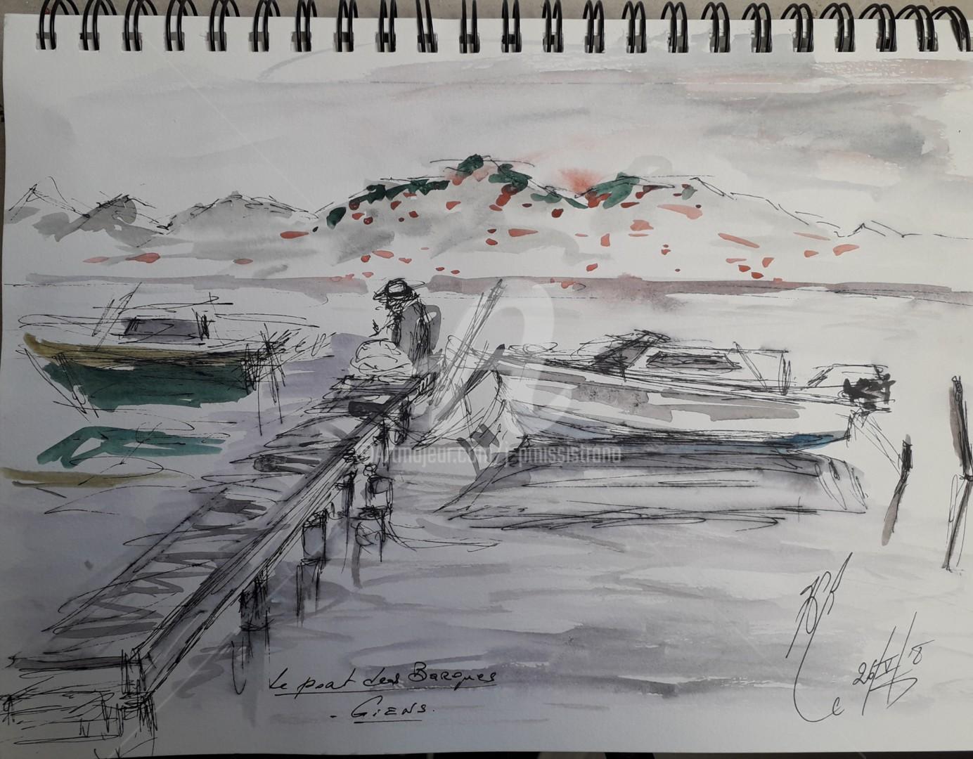 Jean-Pierre Missistrano - Le port des Barques, à Giens.