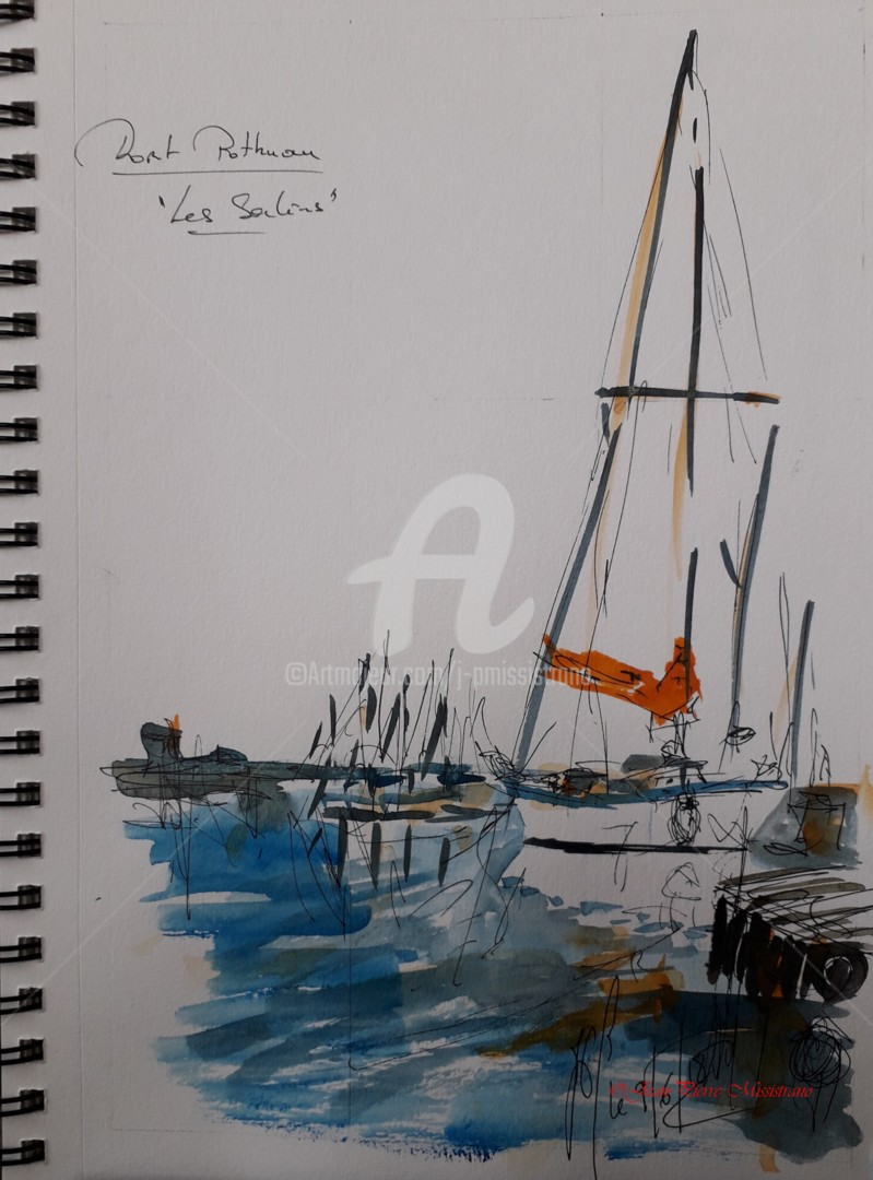 "Jean-Pierre Missistrano - ""Mouillage au Port Pothuau"""