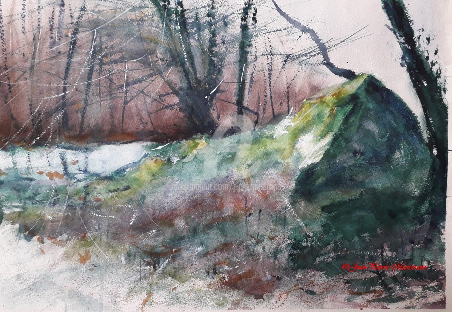 Jean-Pierre Missistrano - Le rocher en forêt
