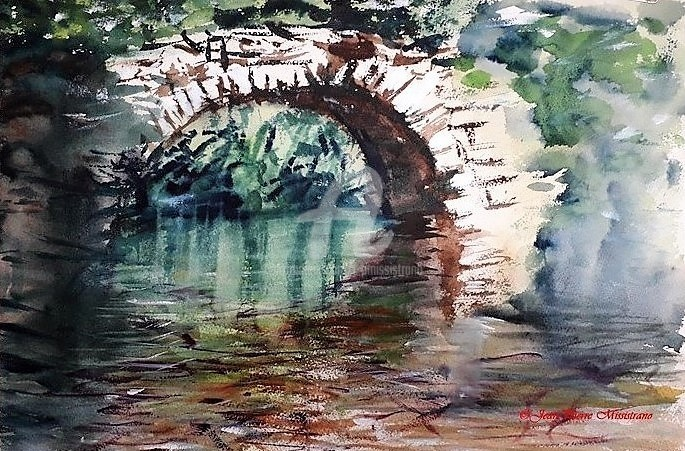"""Jean-Pierre Missistrano - """"Le pont ardéchois"""""""