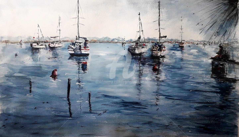 Jean-Pierre MISSISTRANO - Méditation au port des barques