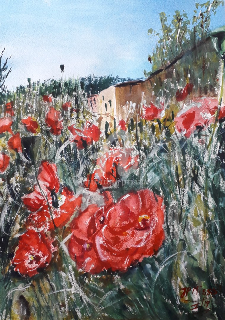 "Jean-Pierre MISSISTRANO - ""Coquelicots en Provence"""
