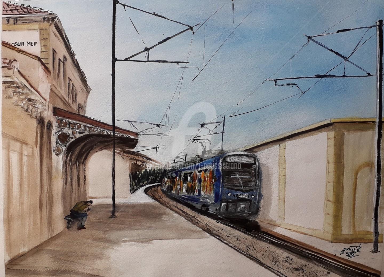 Jean-Pierre MISSISTRANO - Gare de Six-Fours, La Seyne