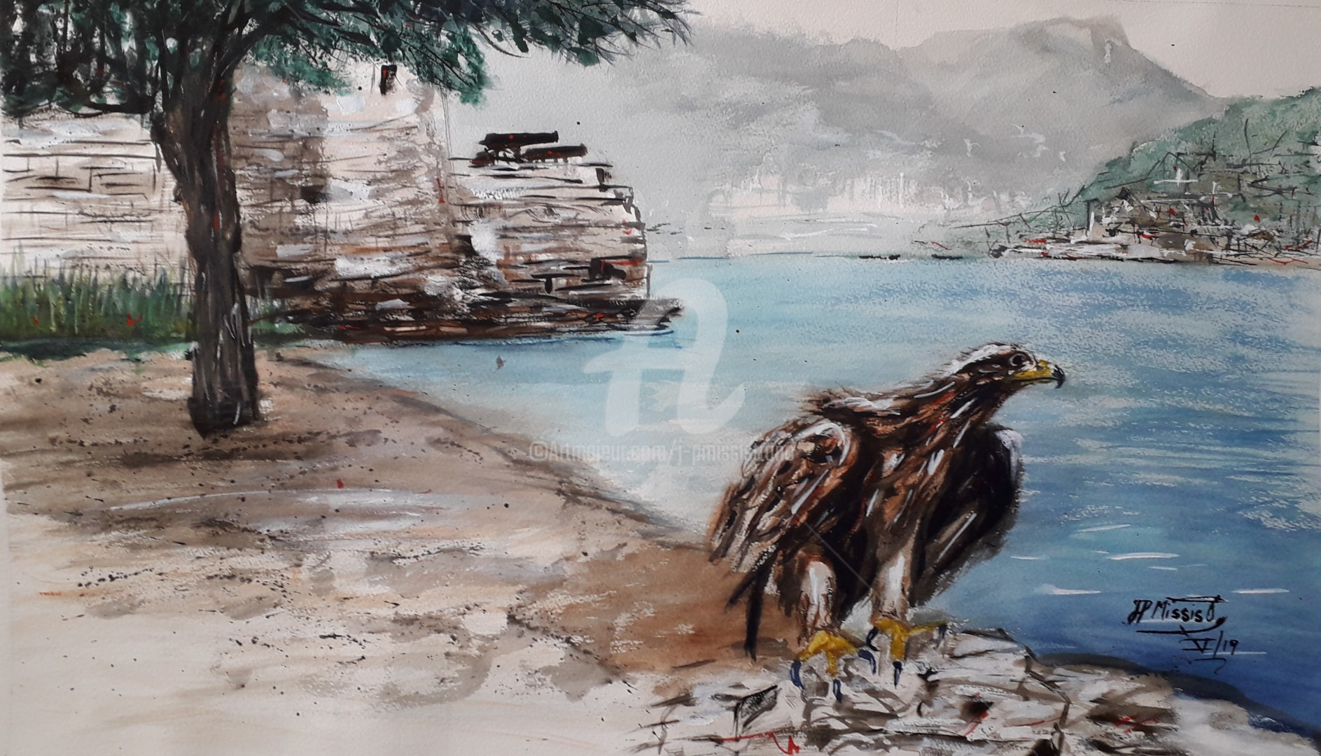"Jean-Pierre Missistrano - ""Envol de l'aigle corse à Balaguier"""