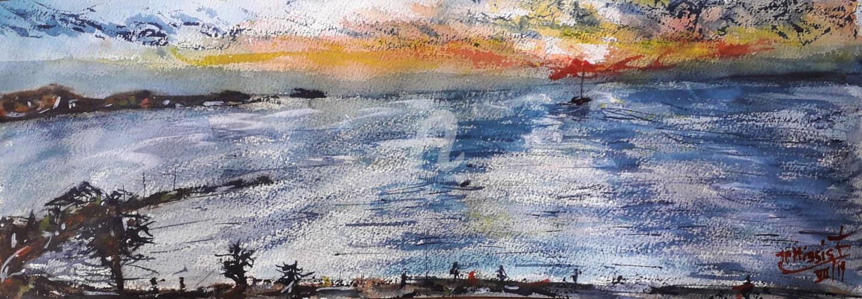"""Jean-Pierre MISSISTRANO - """"La plage du Cros"""", Six-Fours-les-Plages"""