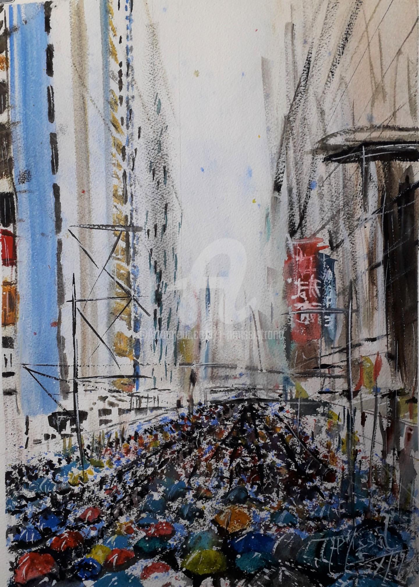 """Jean-Pierre Missistrano - """"Les parapluies de Hong Kong"""""""