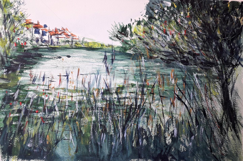 "Jean-Pierre Missistrano - ""Lac privé en Provence"""