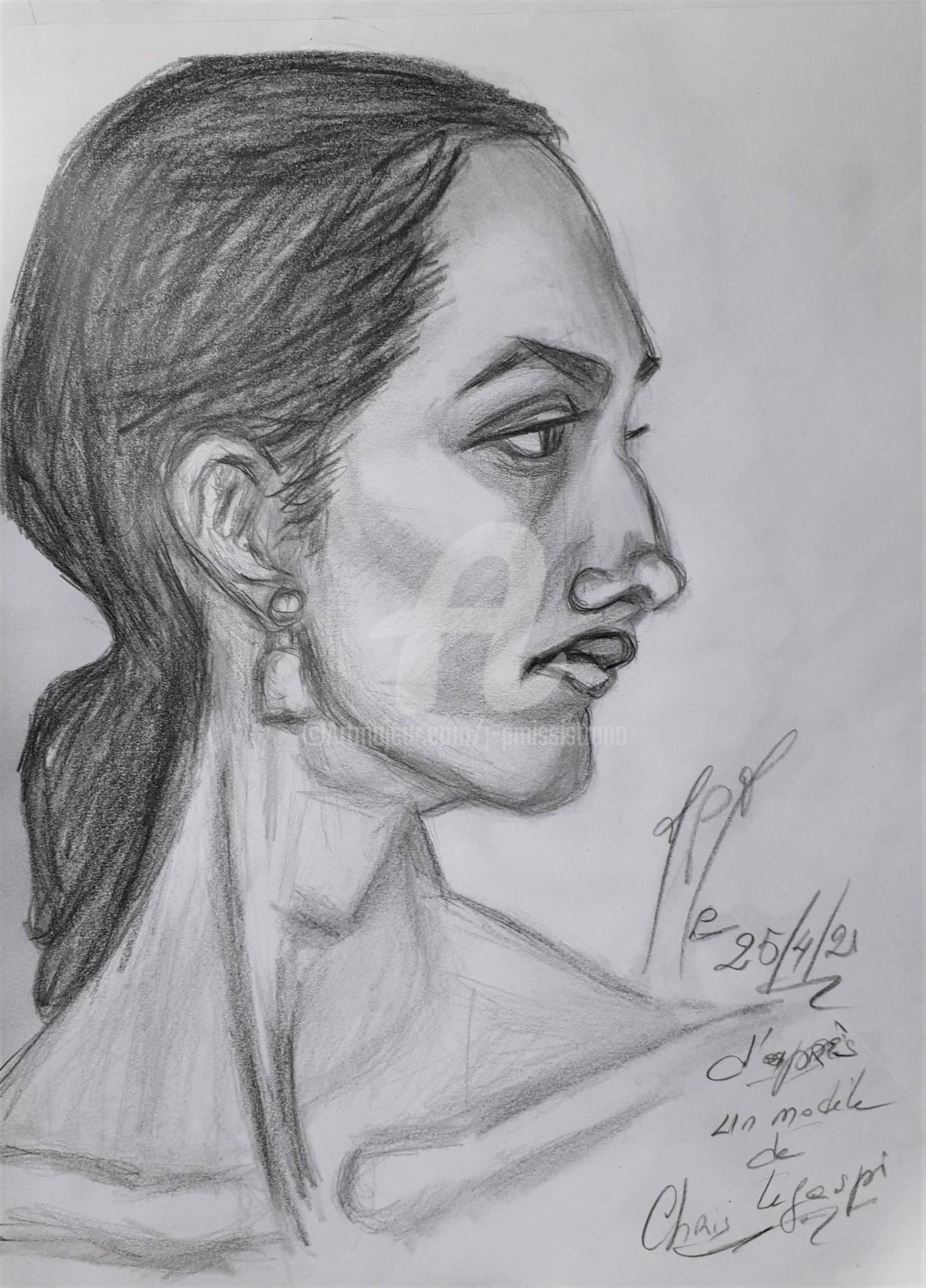 "Jean-Pierre Missistrano - ""Etude portrait, atelier C.L."""