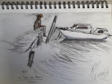 """""""Le port des barques"""", à Giens."""