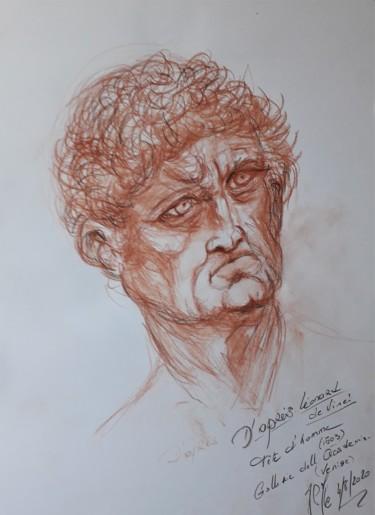 """Etude """"Tête d'homme"""", da Vinci"""