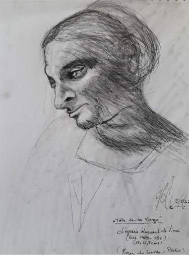 """Etude """"Tête de la Vierge"""", d'après Vinci"""