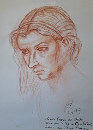 """Etude """"Tête de Marie-Madeleine"""", d'après Andréa del Sarto"""