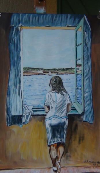 Jeune fille debout à la fenêtre, d'après Salvador Dali