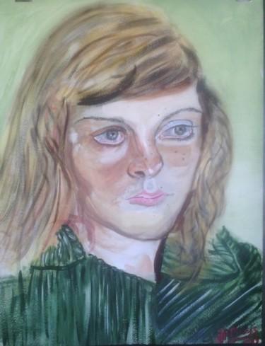 La jeune fille à la robe verte, d'après Lucian Freud