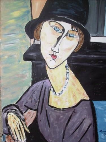 Jeanne Hébuterne au chapeau, d'après Modigliani