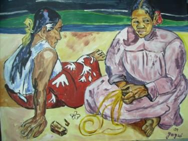 Femmes de Tahiti d'après Gauguin par JPM