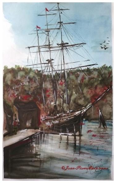 Trois Mâts-Barque, à quai en automne