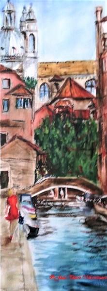 Robe rouge à Venise
