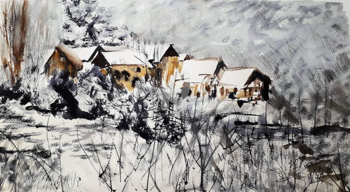 Jean-Pierre MISSISTRANO - Le Village de montagne